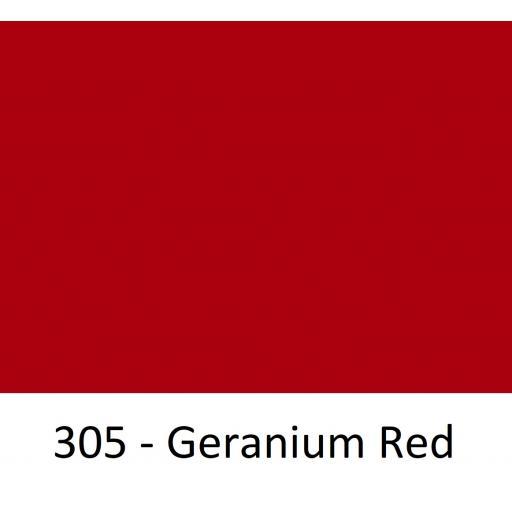 1260mm Wide Oracal 551 Series High Performance Cal Vinyl - Geranium Red 305
