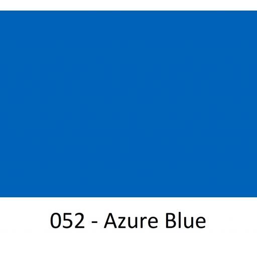 630mm Wide Azure Blue 052 Gloss Finish Oracal 751 Cast Sign Vinyl