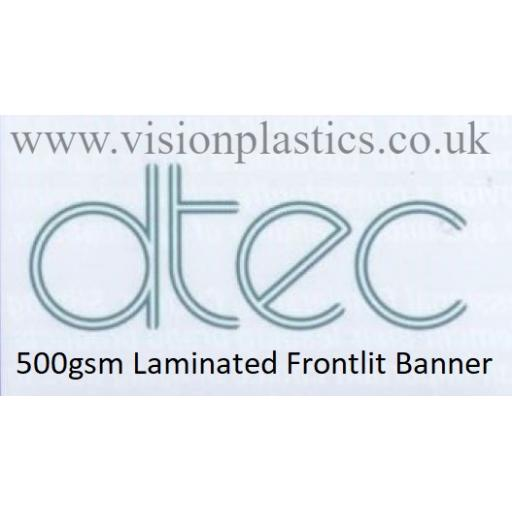 1370mm Wide D-Tec White Frontlit Banner Material - 500gsm x 30 Metres