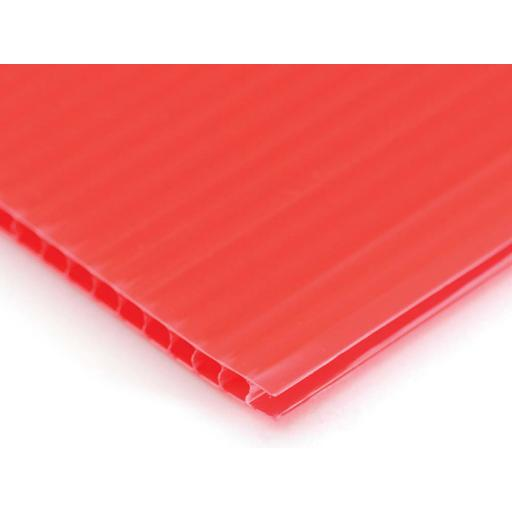 1220mm x 2425mm x 4mm Red Correx Sheet