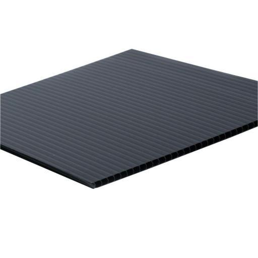 1220mm x 2425mm x 4mm Black Correx Sheet