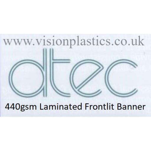 760mm Wide D-Tec White Frontlit Banner Material - 440gsm x 30 Metres