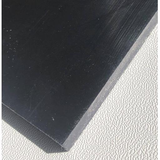 2440mm x 1220mm x 3mm Black (Smooth) Polypropylene Sheet