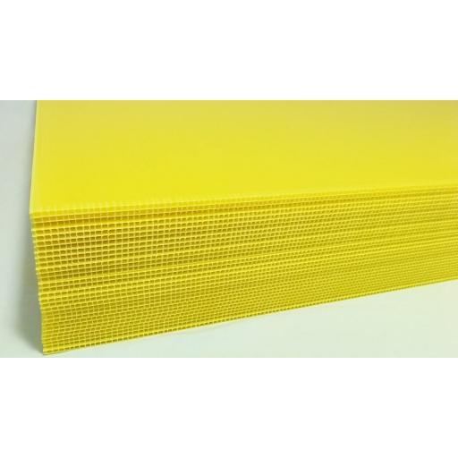 1220mm x 2425mm x 4mm Yellow Correx Sheet