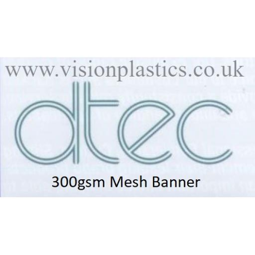 1370mm Wide D-Tec White Mesh Banner Material - 300gsm x 30 Metres