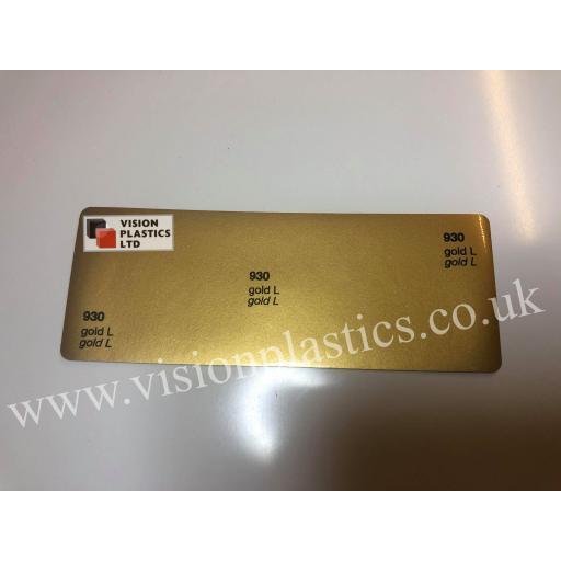 630mm Wide Oracal 551 Series High Performance Cal Vinyl - Gold 930