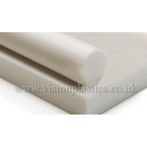 1mm Thick Natural Acetal Sheet 1000mm x 1000mm