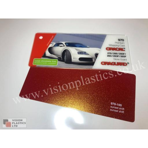 1520mm Wide Oracal 970 Rapid Air Premium Wrapping Cast Vinyl - Sunset Shift 100