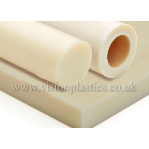 10mm Thick Natural Cast 6 Nylon Sheet 1000mm x 1000mm