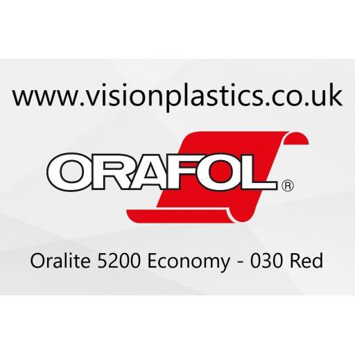 1220mm Wide Oralite 5200 Economy Grade Reflective Vinyl - Red 030