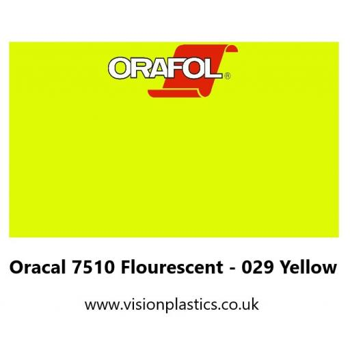 1260mm Wide Oracal 7510 Fluorescent Premium Cast 029 Yellow Vinyl