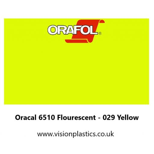 630mm Wide Oracal 6510 Fluorescent Cast 029 Yellow Vinyl
