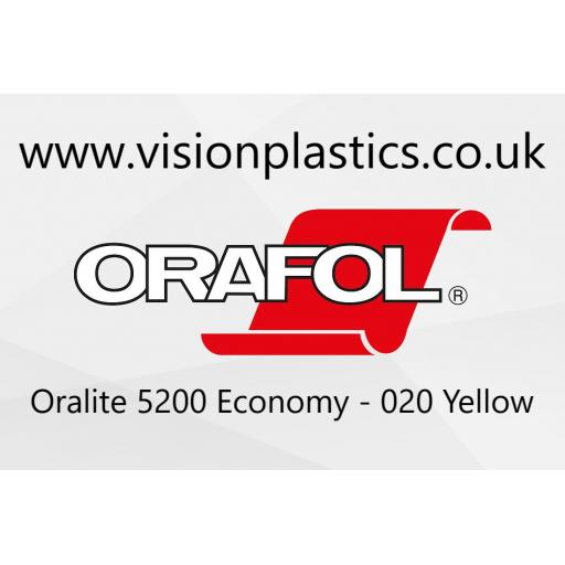 1220mm Wide Oralite 5200 Economy Grade Reflective Vinyl - Yellow 020