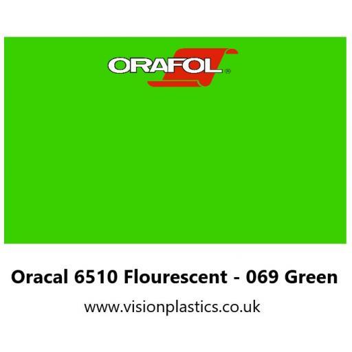 630mm Wide Oracal 6510 Fluorescent Cast 069 Green Vinyl