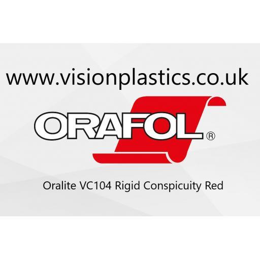 Oralite VC104 Rigid Conspicuity Vinyl - 50mm Wide x 50 Metre Red 012