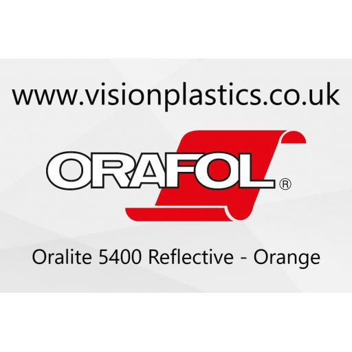 610mm Wide Oralite 5400 Commercial Grade Vinyl Orange