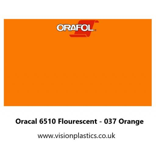 630mm Wide Oracal 6510 Fluorescent Cast 037 Orange Vinyl