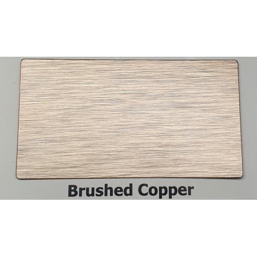 2440mm x 1220mm x 3mm Brushed Copper Aluminium Composite Sheet