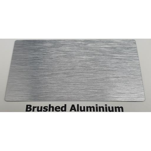 2440mm x 1220mm x 3mm Brushed Silver Aluminium Composite Sheet
