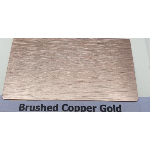 2440mm x 1220mm x 3mm Brushed Copper Gold Aluminium Composite Sheet