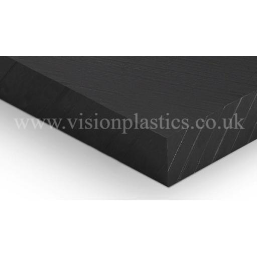 10mm Thick Black PE500 Pressed & Planed Polyethylene Sheet 2000mm x 1000mm