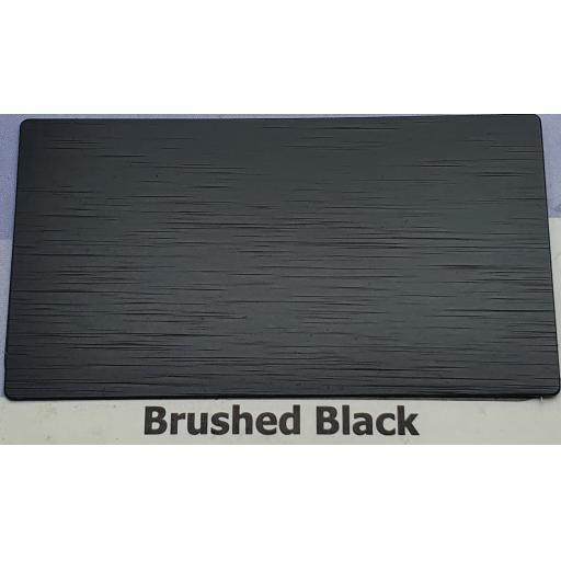 2440mm x 1220mm x 3mm Brushed Black Aluminium Composite Sheet
