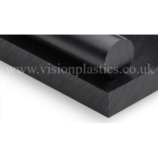 8mm Thick Black PE1000 Pressed & Planed Polyethylene Sheet 2000mm x 1000mm (UHMWPE)
