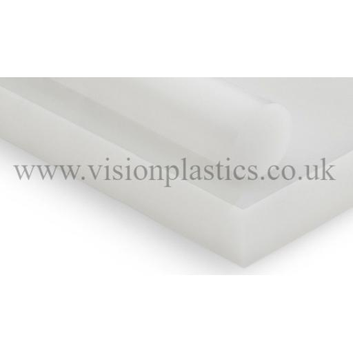 8mm Thick Natural PE1000 Pressed & Planed Polyethylene Sheet 2000mm x 1000mm (UHMWPE)
