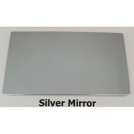 2440mm x 1220mm x 3mm Silver Mirror Aluminium Composite Sheet