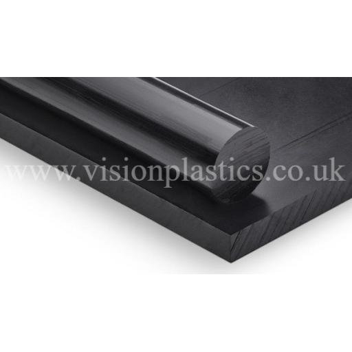 2000mm x 1000mm x 4mm Black HDPE Grade 300 Sheet