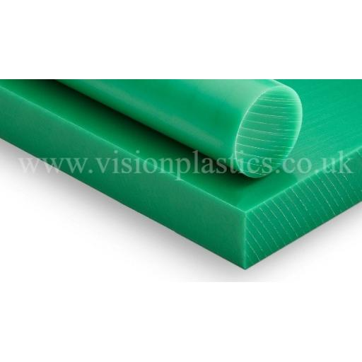 5mm Green PE1000 Sliced Sheet 2000mm x 1000mm