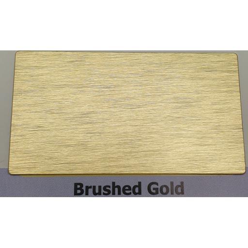 2440mm x 1220mm x 3mm Brushed Gold Aluminium Composite Sheet