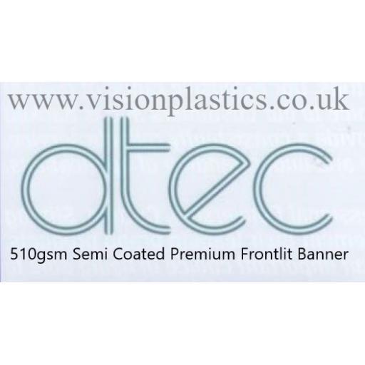 1370mm Wide D-Tec White Semi Coated Premium Frontlit Banner Material - 510gsm x 30 Metres
